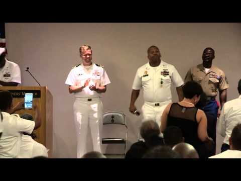Retirement of Senior Chief Blackwell August 22, 2014 at Mariners Museum