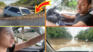 Flood Vs Fortuner...Car Stuck in Rain | Prateek Rathee