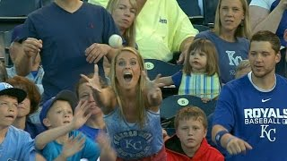 Fan gets her souvenir ball three years later