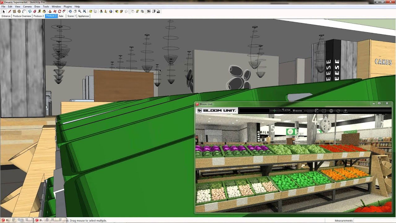 Supermarket design management system youtube for 3d store layout design software