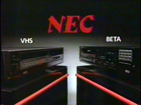 "1984 NEC ""Betamax or VHS? We sell BOTH !"""