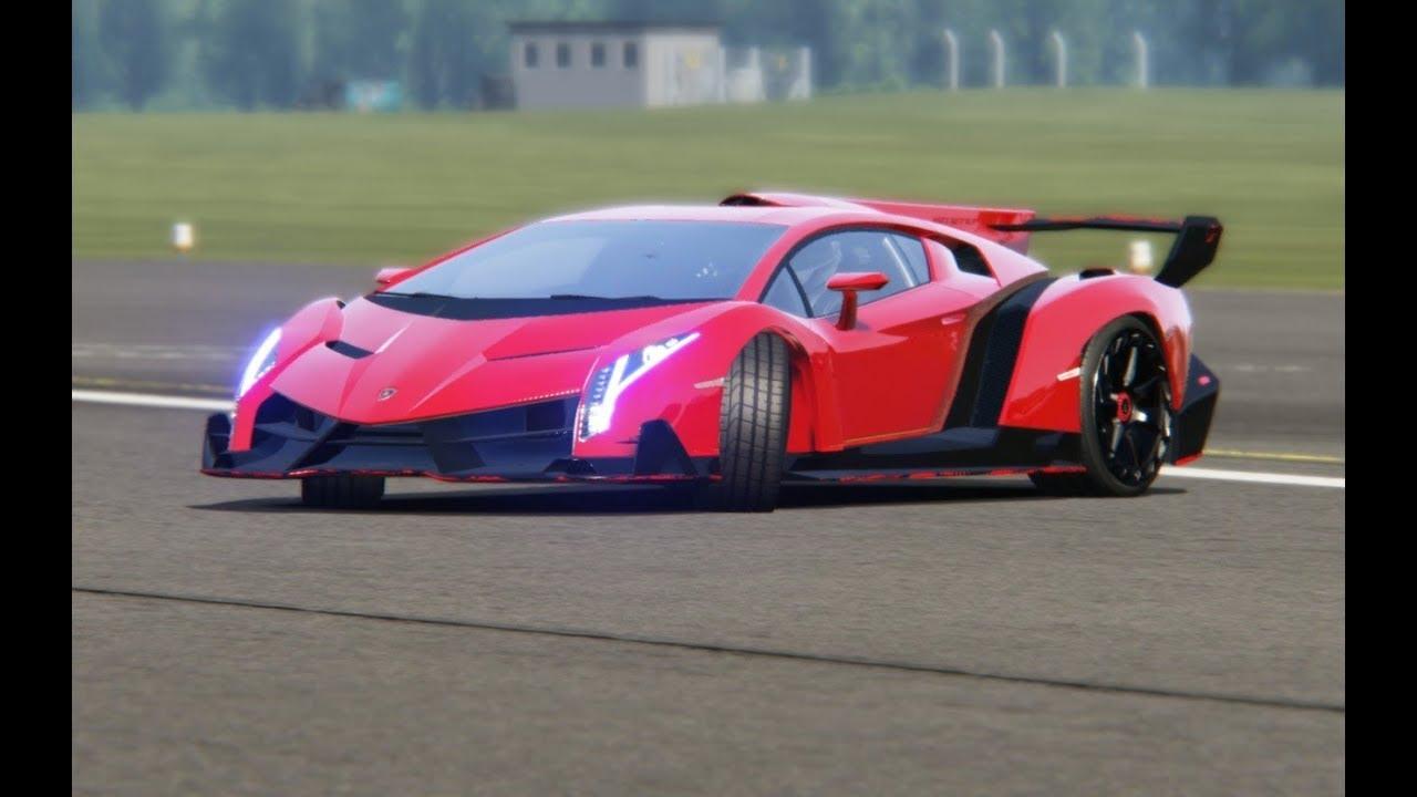 Lamborgini VENENO '13 at Top Gear Testing