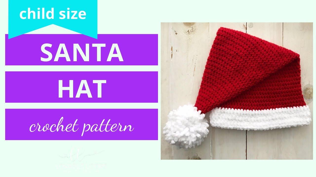 Santa Hat Crochet Tutorial How To Crochet A Santa Hat Santa Hat