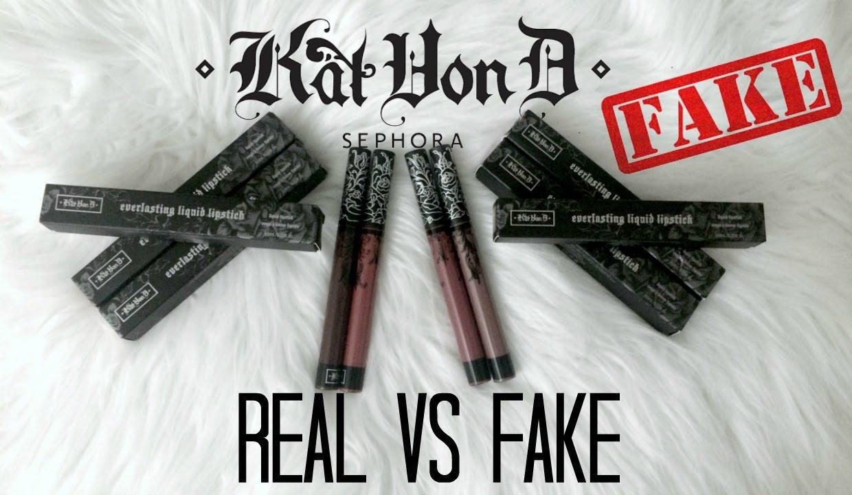 Vs Fake 2 Lipsticks Youtube Spot Kat how To - Everlasting Liquid D Real Von
