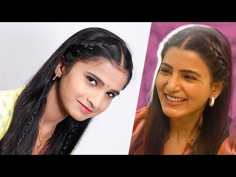 #Samantha new look #hairstyle | New Hairstyles for girls 2019 | Beautiful hairstyles 2019 for party