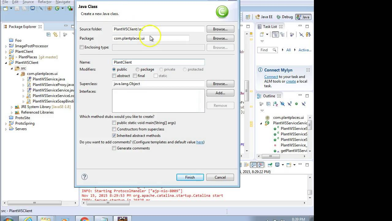 Create a simple web service client with WSDL in Eclipse