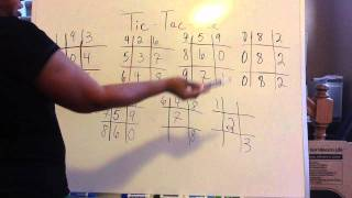 Tic Tac Toe Lottery Explained Detail