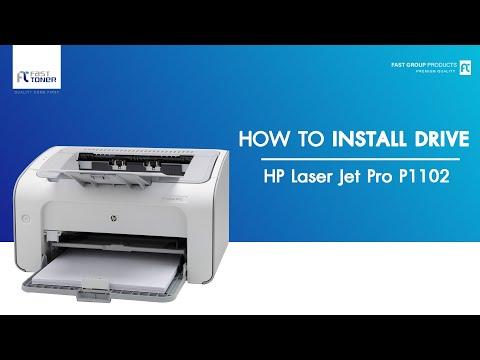 วิธีติดตั้ง Driver HP Laser Jet Pro P1102 แบบ Download