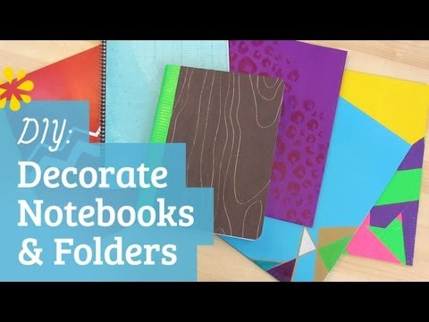 DIY Back to School Notebook & Folder Decoration | Sea Lemon