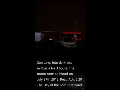 Footage of 3-hours of darkness in Russia