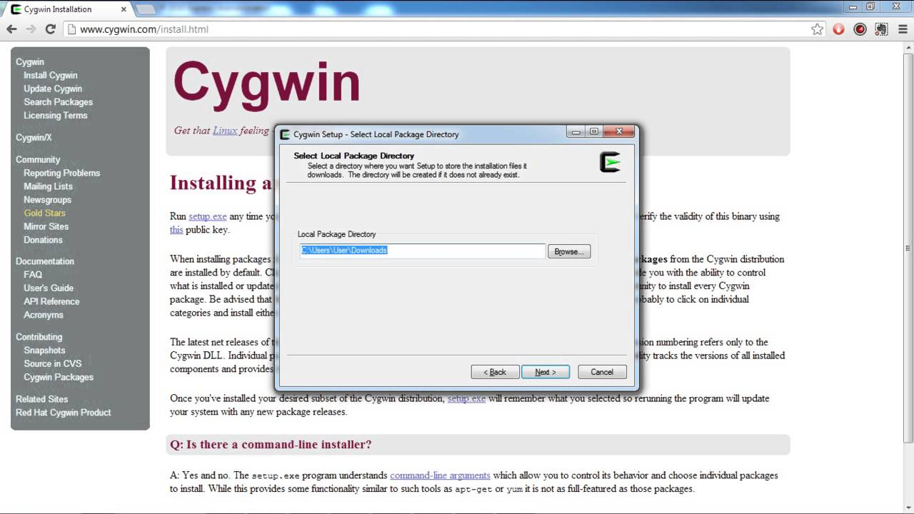 How to Install Cygwin to Windows