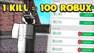 1 KILL 100 ROBUX EN ROBLOX SUPER POWER TRAINING SIMULATOR