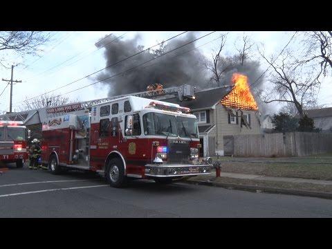 Fair Lawn,NJ Fire Department 2nd Alarm  3/4/17