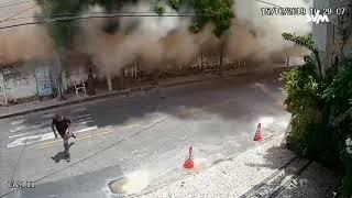 Mais um vídeo mostra queda de prédio em Fortaleza