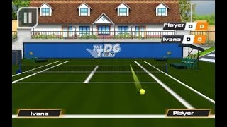 Tennis pro 3d sports game exhibition mode player1 win set1