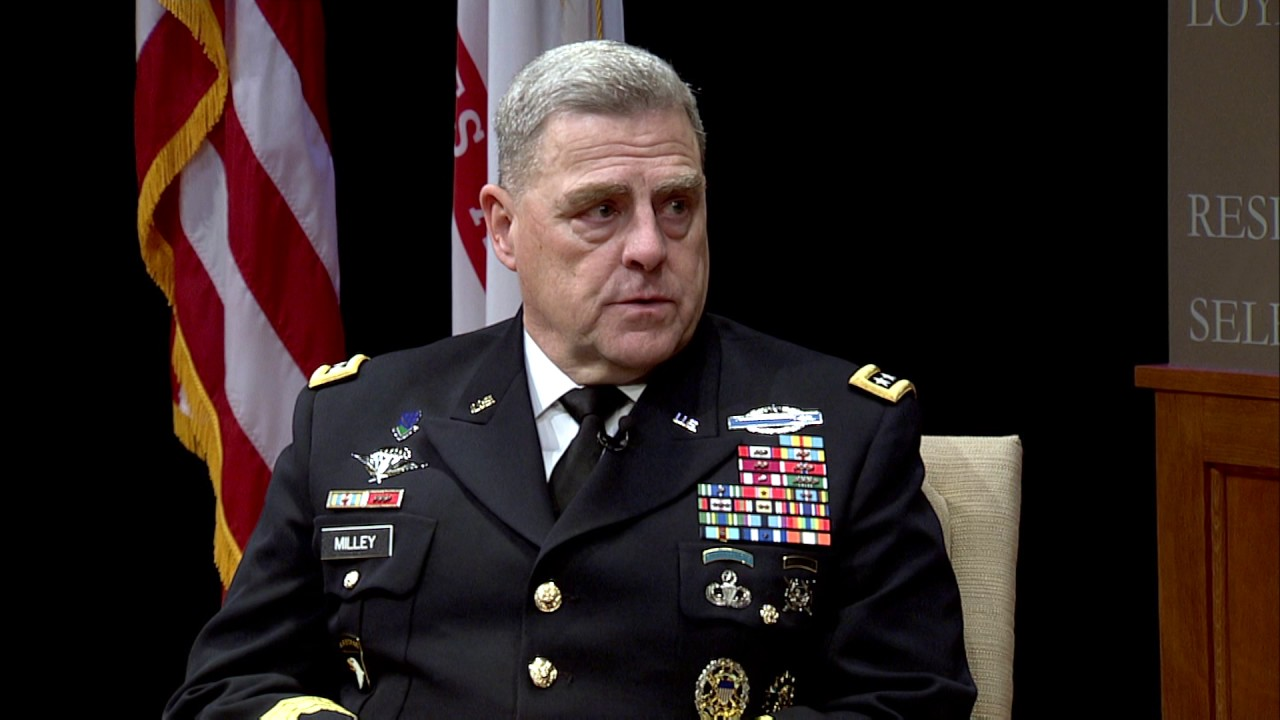 general mark a milley chief of staff of the u s army youtube