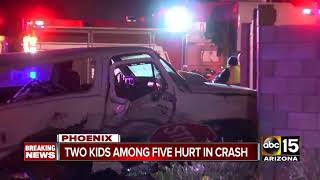 Road restrictions in place after serious crash in north Phoenix