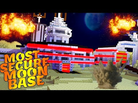 Minecraft - MOST SECURE BASE IN SPACE! - NO GRAVITY SPACE CHALLENGE