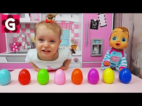 Thumbnail: Learn Colors with Surprise Eggs for Children, Toddlers / Baby Play and Learn Colours for Kids