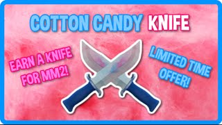how to get cotton candy knife for mm2   roblox candy factory tycoon