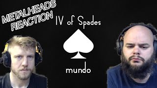 IV OF SPADES - MUNDO ( wish bus)😎🤔👍 metalheads reaction