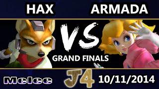 Justice 4 - VGBC | Hax (Fox) Vs. P4K EMP | Armada (Peach) SSBM Grand Finals - Smash Melee