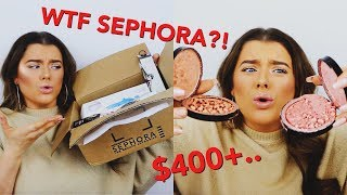 $400+ SEPHORA HAUL FAIL! DID I EVEN LIKE ANYTHING!? BROKEN & MISSING ITEMS?! | Rachel Leary