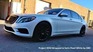 2017 Mercedes-Benz S550 Wrapped in Satin Pearl White by DBX