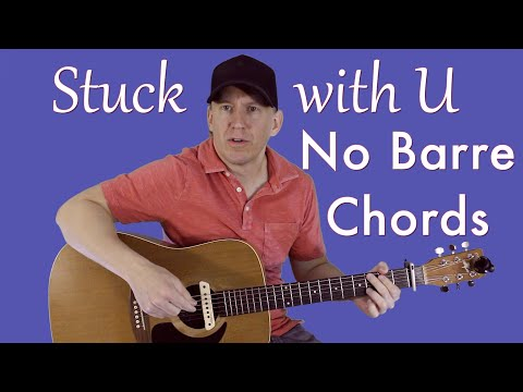 stuck-with-u---no-barre-chords---guitar-lesson-(easy)