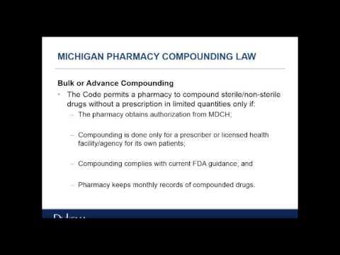 Compounding Pharmacy Laws Webinar - Oct. 2, 2014