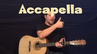 Accapella (Karmin) Easy Strum Guitar Lesson How to Play Tutorial Mp3