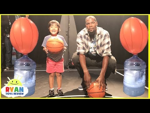 Baking Soda and Vinegar Easy Science Experiments for Kids Balloons Blow Up Ryan vs Kevin Durant
