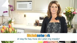 How do I Plan My Meals on the on 21 Day Fix?