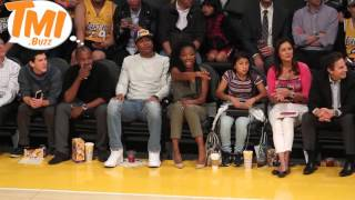 Brandy Norwood puts on an animated display watching the Lakers win, FINALLY!