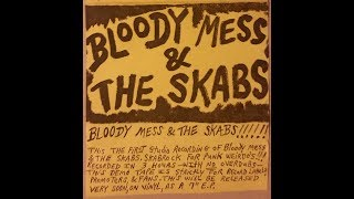 Bloody Mess and the Skabs first self titled tape 1989 Illinois punk rock