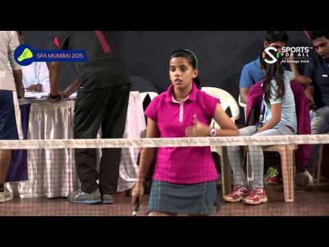 SFA Mumbai 2015 | Badminton | Deeksha Hardasani Vs Gargee Devgekar | U15 | Girls | Final