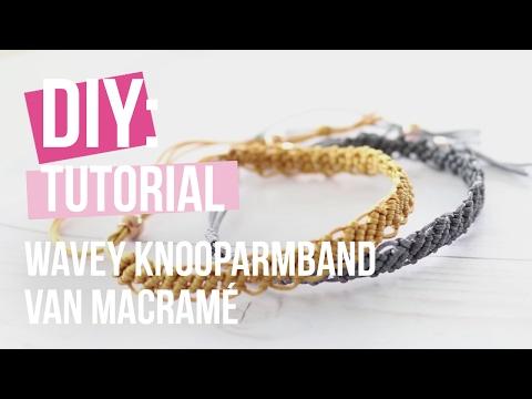 Sieraden maken: Wavey knooparmband van Macramé ♡ DIY