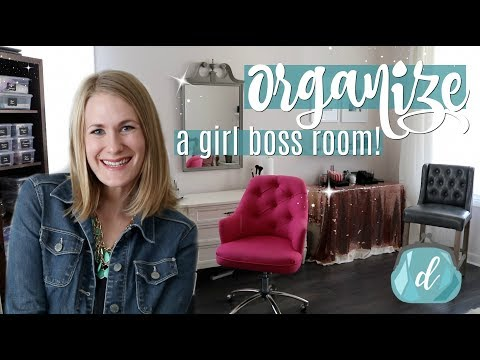 ORGANIZED MAKEUP ROOM TOUR! 💕 Tips for craft rooms, small businesses & side hustles!