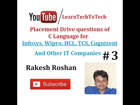 C Language Interview Questions And Answers For It Companies 3