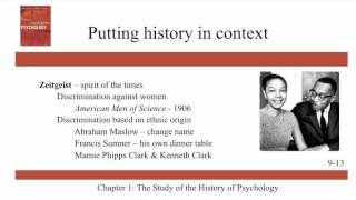 The Study of the History of Psychology - Ch 1 - History of Modern Psychology - Schultz & Schultz