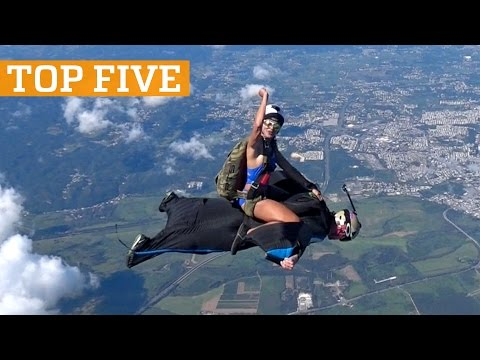 TOP FIVE: Skateboarding, Wingsuit Rodeo & Handstand Challenge | PEOPLE ARE AWESOME 2017