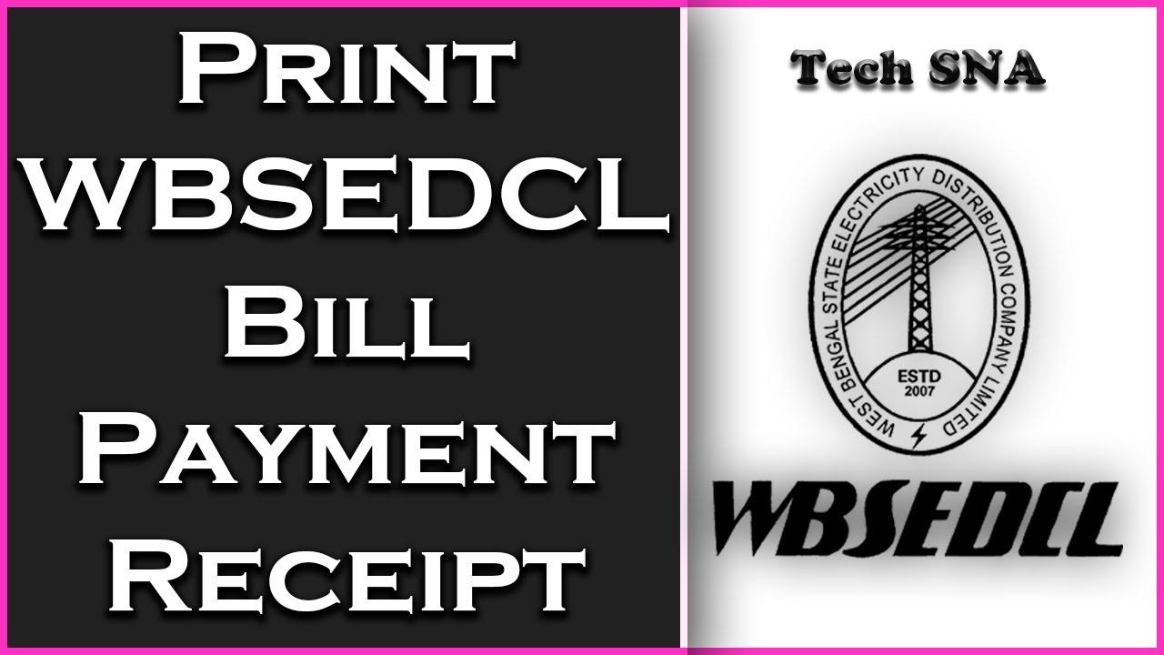 wbsedcl bill payment receipt