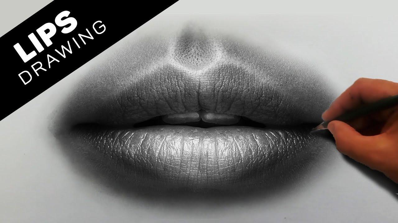 Hyperrealistic Drawing Of Human Lips