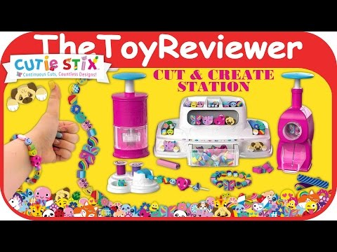 Cutie Stix Cut & Create Station Set Bracelets Jewelry Nail Art Unboxing Toy Review by TheToyReviewer