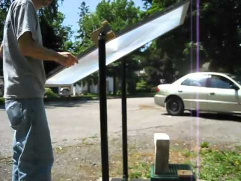 Fresnel Lens Death Ray With A Mirror Array 20 Inch Supe