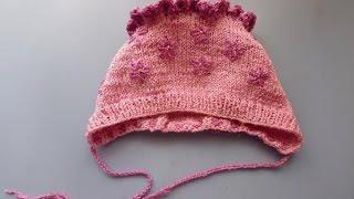 Как связать шапочку для новорожденной девочки