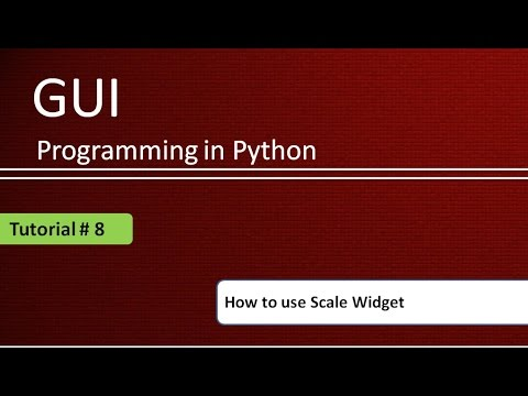 How to use Scale Widget in Python : Python GUI Programming using Tkinter # Tutorial - 8