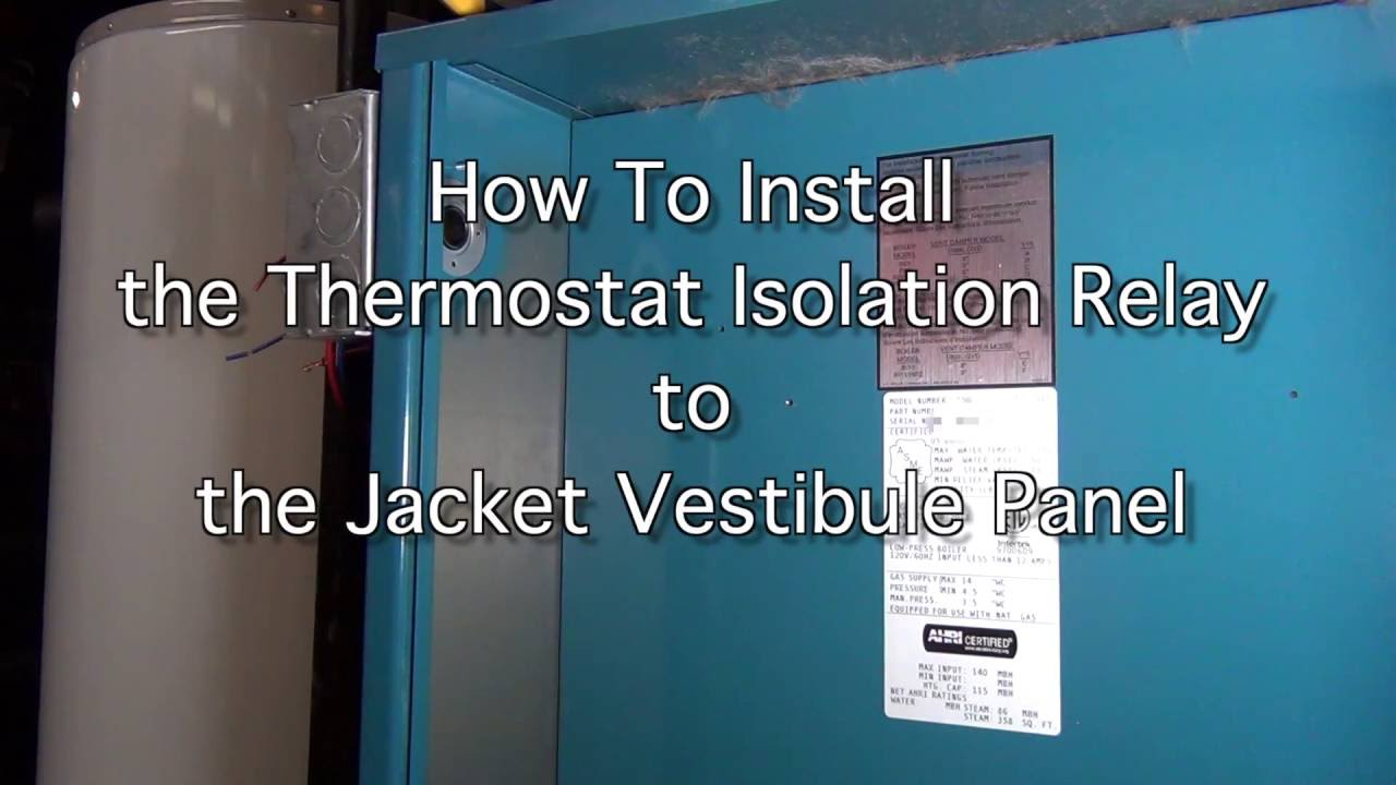 How to Install the Thermostat Isolation Relay - YouTube