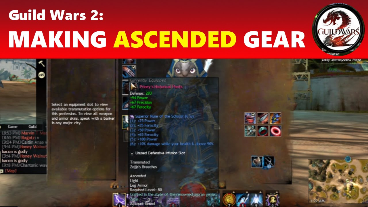 Guild Wars 2: Making Ascended Gear - Armor OUTDATED (NEW VERSION ...