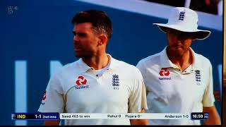 James Anderson taking wicket 562nd and 563rd Vs India